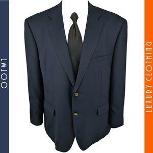 STAFFORD ESSENTIALS 50R Blue Gold Btn Sport Coat